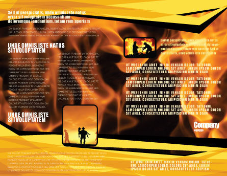 Fire Line Brochure Template Inner Page