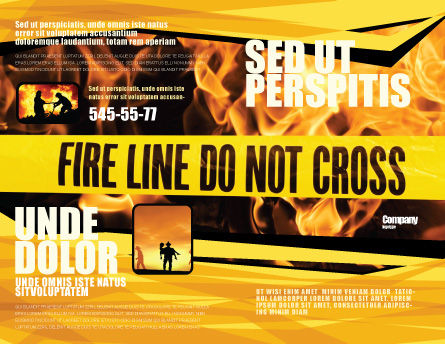 Fire Line Brochure Template Outer Page