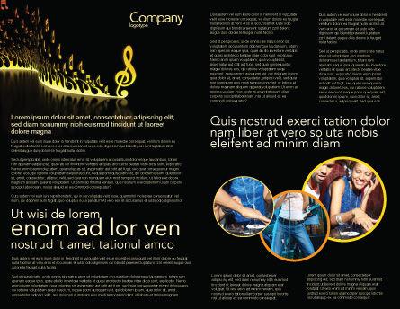 Modern Music Brochure Template, Inner Page, 04739, Art & Entertainment — PoweredTemplate.com