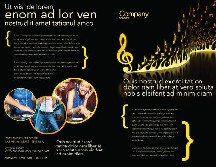 Modern Music Brochure Template, Outer Page, 04739, Art & Entertainment — PoweredTemplate.com