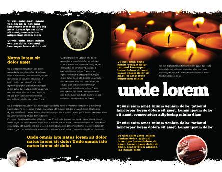 Religious Service Brochure Template, Inner Page, 04743, Religious/Spiritual — PoweredTemplate.com