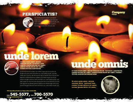Religious Service Brochure Template, Outer Page, 04743, Religious/Spiritual — PoweredTemplate.com