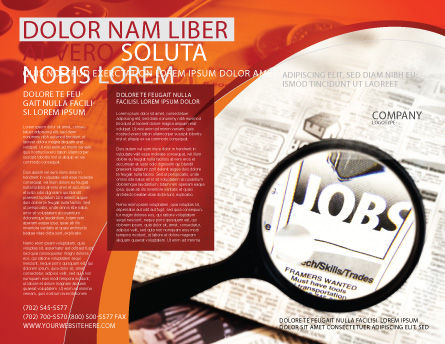 Jobs Brochure Template, Outer Page, 04745, Consulting — PoweredTemplate.com
