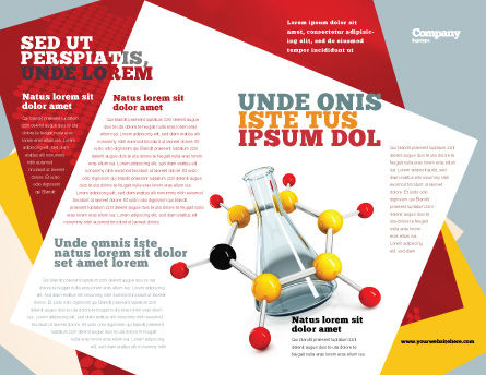 Organic Chemistry Brochure Template, Outer Page, 04773, Education & Training — PoweredTemplate.com