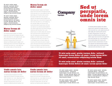 Decision Cube Brochure Template, Inner Page, 04774, Consulting — PoweredTemplate.com