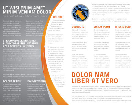 Specified Direction Brochure Template, Inner Page, 04780, Consulting — PoweredTemplate.com