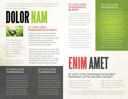 Green Path Brochure Template, Inner Page, 04785, Nature & Environment — PoweredTemplate.com