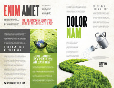 Green Path Brochure Template, Outer Page, 04785, Nature & Environment — PoweredTemplate.com