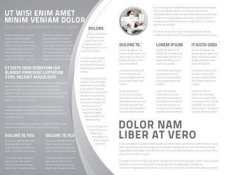 Teeth Brochure Template, Inner Page, 04787, Medical — PoweredTemplate.com