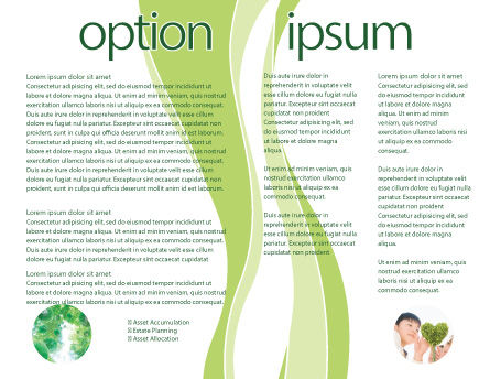 Sliced Green Apple Brochure Template Inner Page