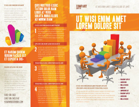 Discussing Results Brochure Template, Outer Page, 04800, Consulting — PoweredTemplate.com
