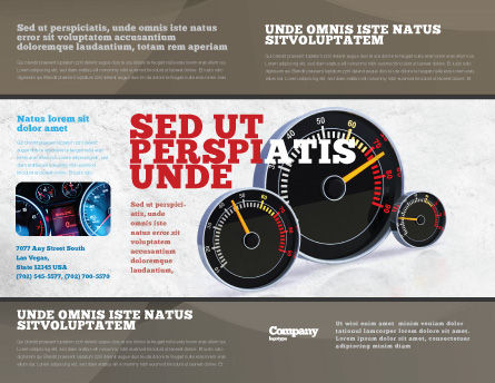 Speedo Brochure Template, Outer Page, 04804, Cars/Transportation — PoweredTemplate.com