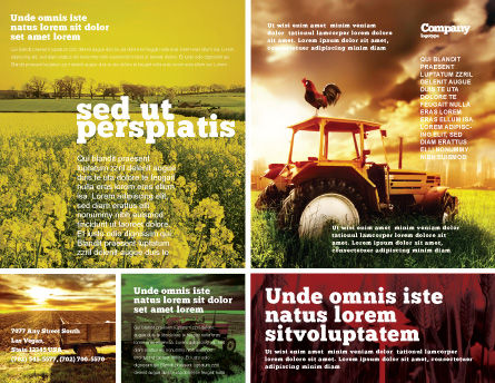 Summer On The Farm Brochure Template, Outer Page, 04809, Agriculture and Animals — PoweredTemplate.com