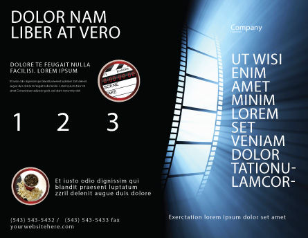 Film Tape Brochure Template, Outer Page, 04812, Careers/Industry — PoweredTemplate.com