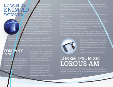 Lock Brochure Template, Inner Page, 04814, Consulting — PoweredTemplate.com