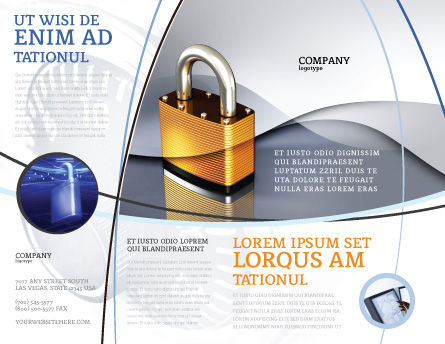 Lock Brochure Template, Outer Page, 04814, Consulting — PoweredTemplate.com
