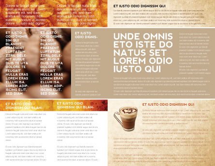 Coffee Break With Cappuccino Brochure Template Inner Page