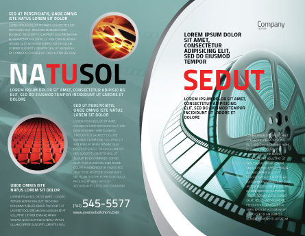 Film Reel Brochure Template, Outer Page, 04827, Careers/Industry — PoweredTemplate.com