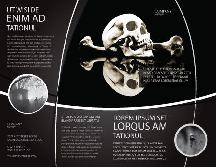Skull And Bone Brochure Template Outer Page