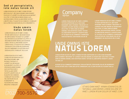 Little Feet Brochure Template, Inner Page, 04837, Education & Training — PoweredTemplate.com