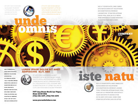 Finance Brochure Template Outer Page