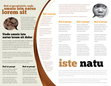 African Famine Brochure Template, Inner Page, 04841, General — PoweredTemplate.com