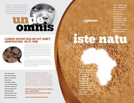 African Famine Brochure Template, Outer Page, 04841, General — PoweredTemplate.com