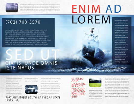 Sea Storm Brochure Template, Outer Page, 04842, Nature & Environment — PoweredTemplate.com