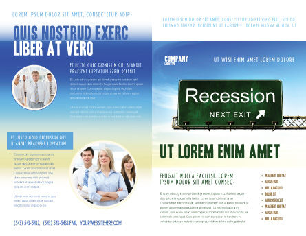 Recession Brochure Template, Outer Page, 04847, Financial/Accounting — PoweredTemplate.com