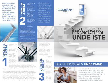Stairway To Exit Brochure Template, Outer Page, 04849, Careers/Industry — PoweredTemplate.com