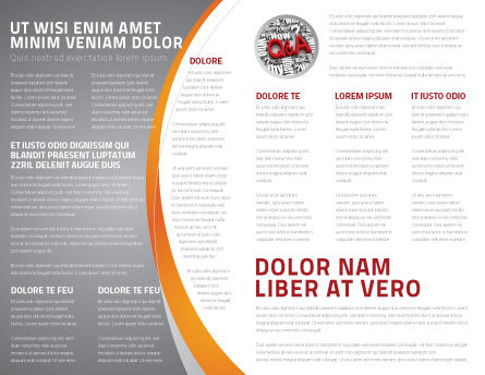 FAQ Brochure Template, Inner Page, 04852, Consulting — PoweredTemplate.com