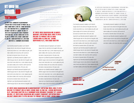 Don't Know Brochure Template, Inner Page, 04853, Consulting — PoweredTemplate.com