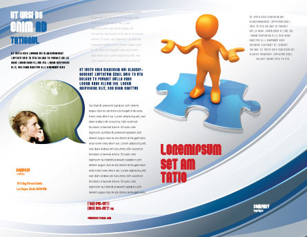 Don't Know Brochure Template, Outer Page, 04853, Consulting — PoweredTemplate.com