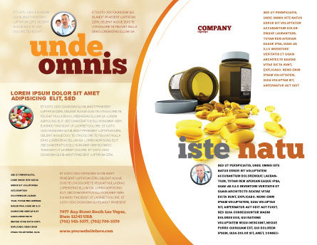Capsules Brochure Template, Outer Page, 04855, Medical — PoweredTemplate.com