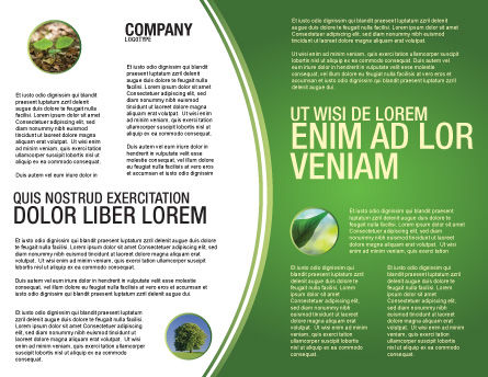 Planting Brochure Template, Inner Page, 04862, Nature & Environment — PoweredTemplate.com