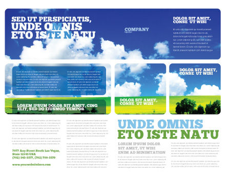 Sunny Landscape Brochure Template, Outer Page, 04863, Nature & Environment — PoweredTemplate.com