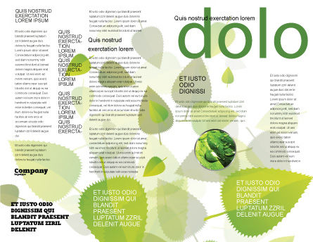 Dew Brochure Template, Inner Page, 04872, Nature & Environment — PoweredTemplate.com