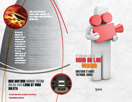 Cameraman Brochure Template Outer Page
