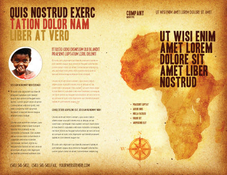 Africa Brochure Template, Outer Page, 04877, Flags/International — PoweredTemplate.com