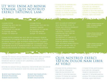 Green Grass Under Blue Sky Brochure Template, Inner Page, 04885, Nature & Environment — PoweredTemplate.com
