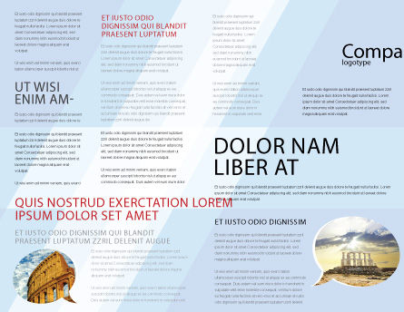 Ionic Columns Brochure Template Inner Page