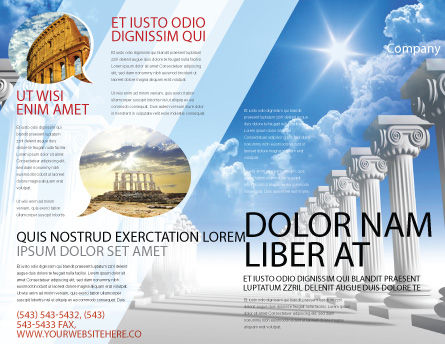 Ionic Columns Brochure Template Outer Page