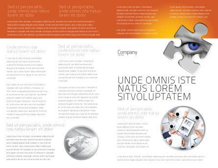 Eye Brochure Template Inner Page