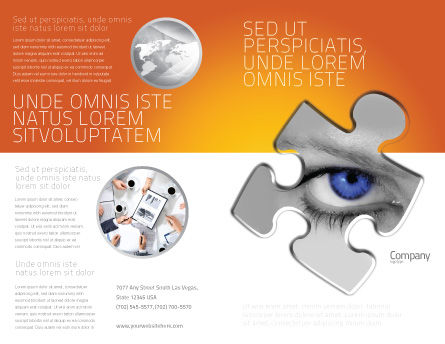 Eye Brochure Template Outer Page
