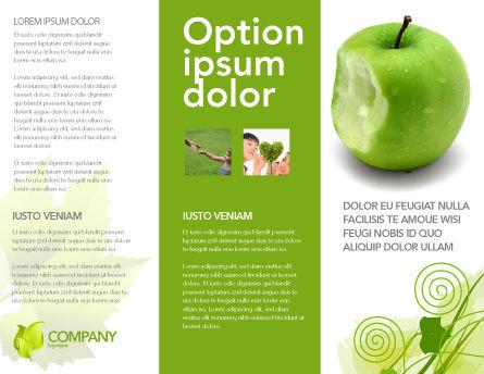 Apple Bite Brochure Template, Inner Page, 04900, Education & Training — PoweredTemplate.com