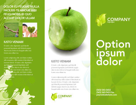 Apple bite brochure template design and layout download for Apple pages brochure templates