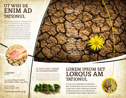 Desert Flower Brochure Template, Outer Page, 04901, Nature & Environment — PoweredTemplate.com