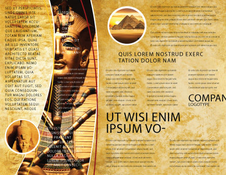 Egyptian Engraving Brochure Template, Inner Page, 04908, Education & Training — PoweredTemplate.com