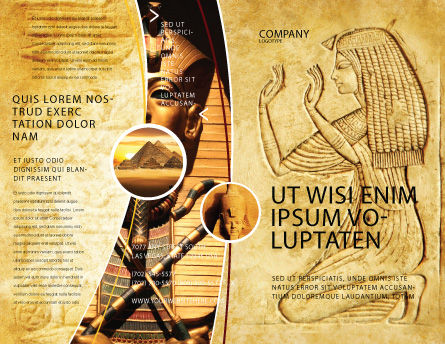 Egyptian Engraving Brochure Template, Outer Page, 04908, Education & Training — PoweredTemplate.com