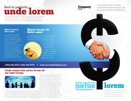 Currency Trading Brochure Template, Outer Page, 04911, Business Concepts — PoweredTemplate.com